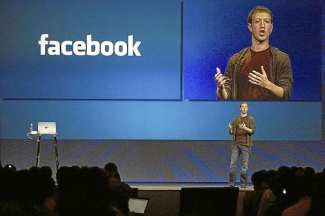 Mark Zuckerberg, en la última presentación de los resultados de Facebook. | Reuters