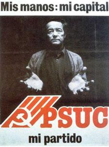 Cartel y lema del PSUC en 1977.