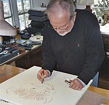 El autor, al inicio de un trabajo.