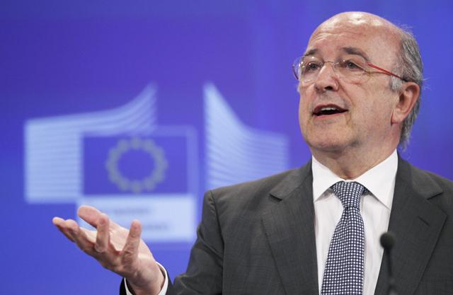 El vicepresidente de la Comisión Europea, Joaquín Almunia. | Reuters