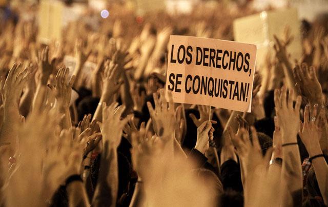 Concentración en la Puerta del Sol el pasado mayo. | Foto: Alberto Di Lolli