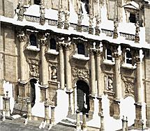 Fachada escaneada de la catedral de Jaén.