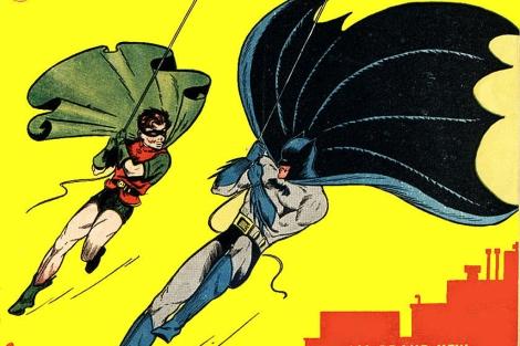 Portada del primer cómic de Batman, publicado en 1940.