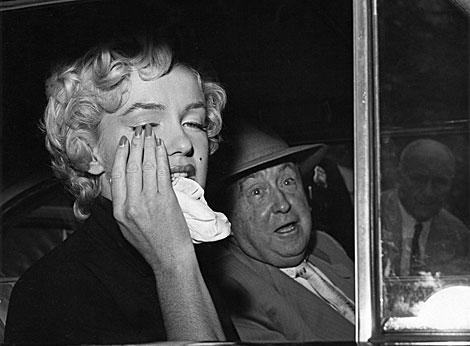 Marilyn Monroe, el día que se divorció de Joe DiMaggio, en 1954. | B. H.