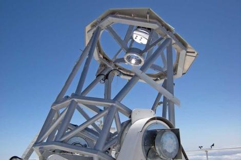 El telescopio solar Gregor, en el Observatorio del Teide. | Universidad de Friburgo.