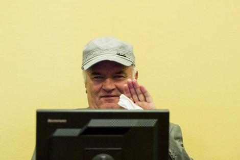 El ex general serbobosnio Ratko Mladic en La Haya.   Reuters