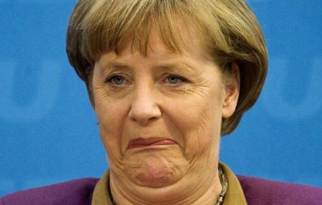 Angela Merkel en un congreso de su partido Unión Cristianodemócrata. | Afp