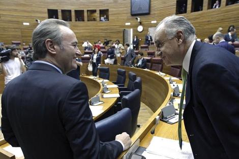 Alberto Fabra, este jueves en el Parlamento valenciano   Efe