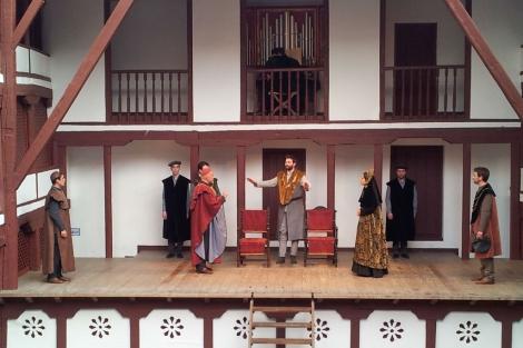 Un momento del estreno en el Corral de Comedias de Almagro de 'Enrique VIII'. | Esther Alvarado