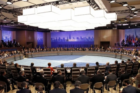 Reunión de los líderes en la cumbre de la OTAN en Chicago. | Efe