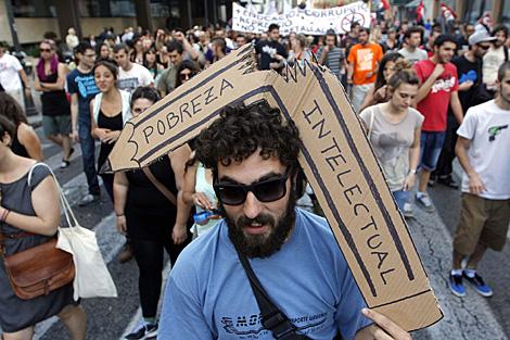 Manifestantes en Valencia. | Efe