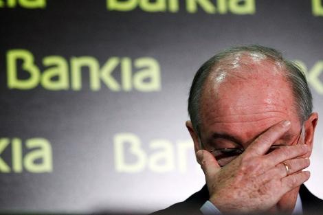 Rato, durante una rueda de prensa cuando dirigía Bankia. | Reuters