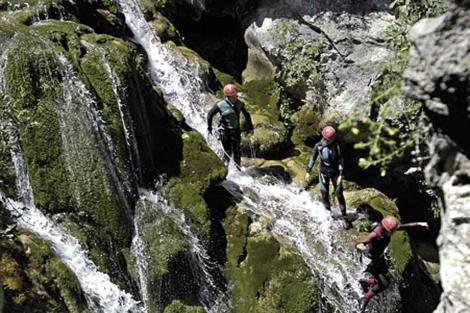 Barranquismo y turismo activo en Cazorla.
