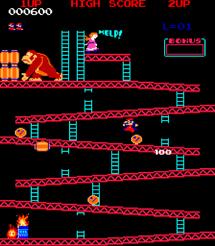 Donkey Kong, el primer juego de Miyamoto.