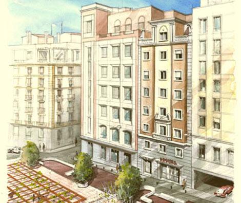 Edificio rehabilitado en cuesta de Sto. Domingo, 11. | E. M.