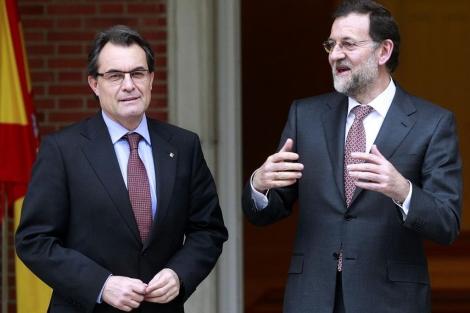 Mas, recibido por Rajoy en su reunión en Moncloa. | Javier Barbancho