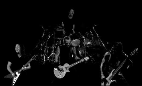 Los cuatro miembros del grupo de 'Hard Rock' Metallica.  E. M.