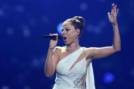 Pastora Soler, durante su actuación en la final de Eurovisión. | Reuters