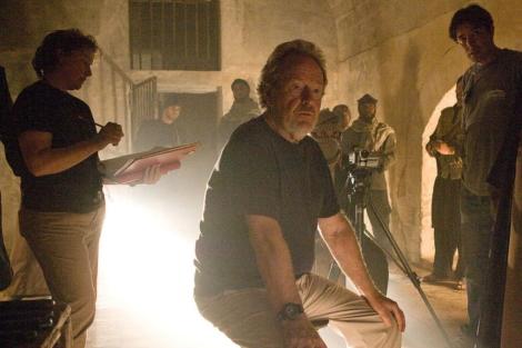 El director, Ridley Scott, durante un rodaje.   E.M.