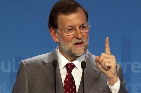 Mariano Rajoy, durante su rueda de prensa. | Afp