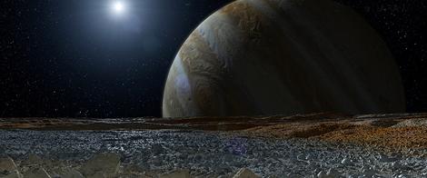 Recreación artística de Europa. | NASA/JPL-Caltech