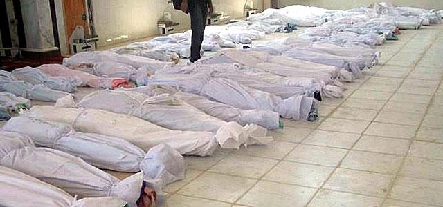 Cadáveres de civiles sirios tras la matanza de Hula.