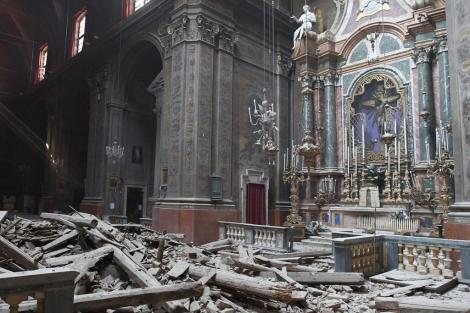 Vista de la iglesia de Santa Maria Maggiore en Pieve di Cento (Bolonia). | Efe
