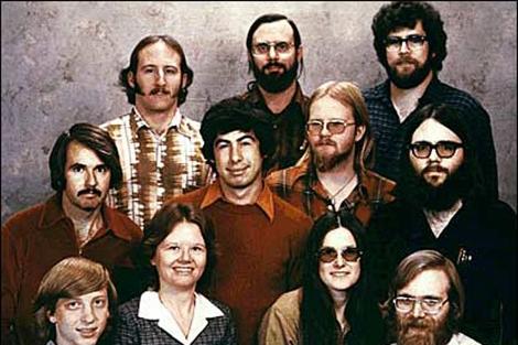 Los fundadores de Microsoft.