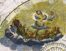 El tránsito de Venus en el atlas de Doppelmayr.