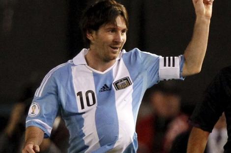 El futbolista celebrando su gol frente a Ecuador. | Reuters
