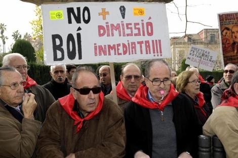 Protesta ante el Parlament.   Antonio Moreno