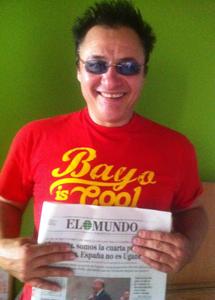 Chimo Bayo con EL MUNDO de este lunes.