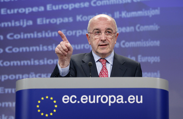 El comisario europeo de Competencia, Joaquín Almunia. | Reuters