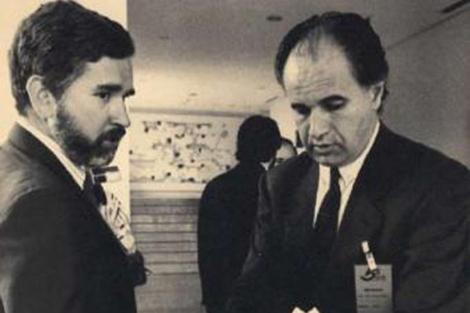 Rafael Blasco, durante su etapa de conseller con Joan Lerma.
