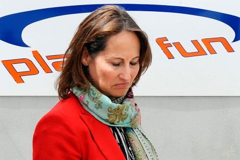 Royal, este miércoles haciendo campaña en La Rochelle. | AFP