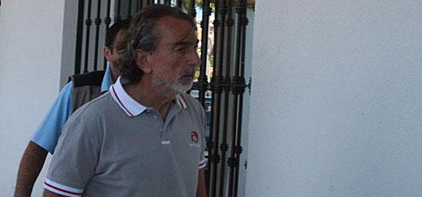 El presunto cabecilla de 'Gürtel', a su llegada a los juzgados.   Francisco Ledesma