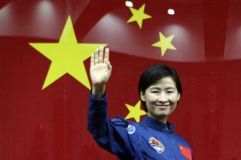 Liu Yang, en su presentación ante los medios. | Reuters