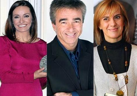 De izda. a dcha. Pepa Bueno, Carles Francino y Gemma Nierga. | ELMUNDO.es