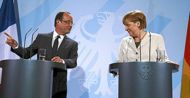 Hollande y Merkel. | Foto: Reuters