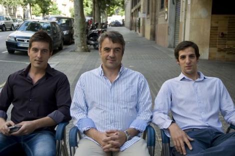 Los impulsores del portal de búsqueda de empleo. | Santi Cogolludo