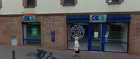 La sucursal del banco del secuestro en Toulouse.