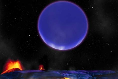 Recreación artística del sistema planetario Kepler-36. | CFA