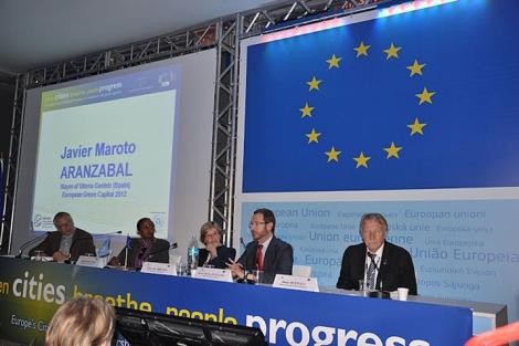 Martoto en la reunión del Comité de las Regiones.| E-M.