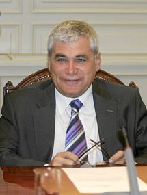 El presidente de la Comisión Presupuestaria del Consejo General del Poder Judicial, Ramón Camp.   Javi Martínez