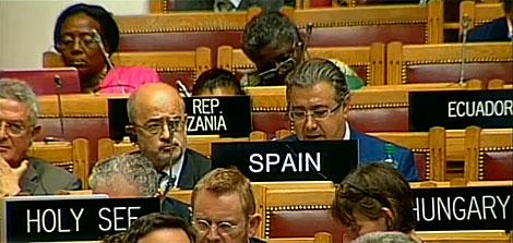 El alcalde de Sevilla interviene en la asamblea de la Unesco. | ELMUNDO.es