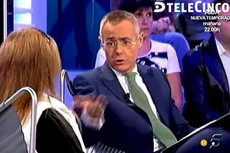Imagen de la entrevista de la madre del 'Cuco' en Telecinco.