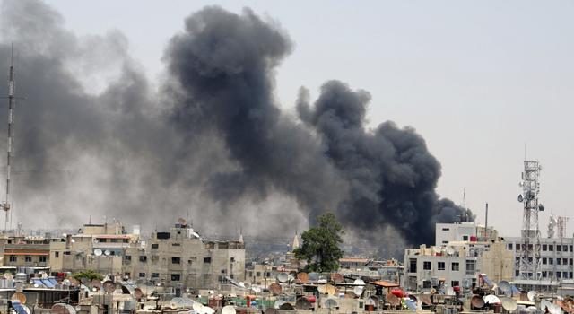 Imagen del atentado esta mañana en Damasco.  | Reuters