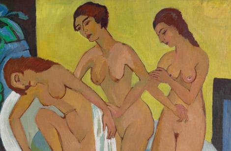 Detalle de 'Mujeres bañándose' (1914-15 y 1925)