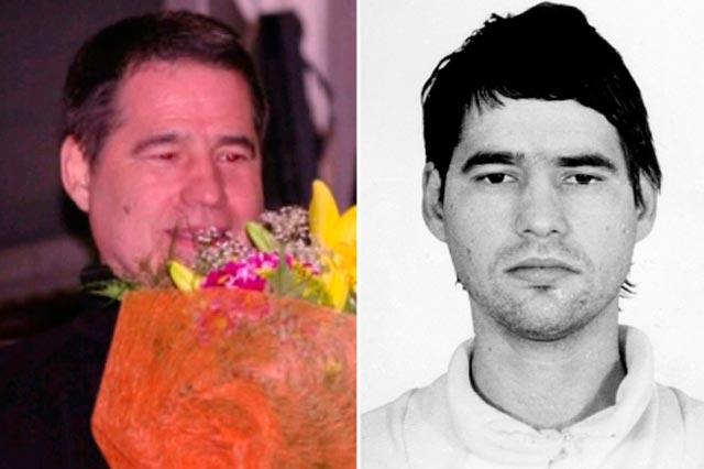 Antón Troitiño, al salir de prisión (izda.) y en la foto policial.