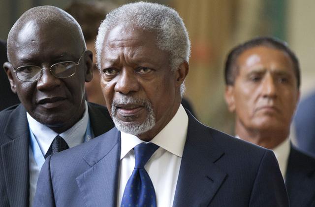 Kofi Annan tras la reunión en Ginebra. | Afp